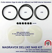 Revox Studer DELUXE NAB hub adapter overhaul kit with reel spacers