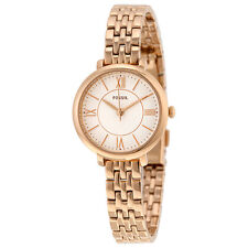 Fossil Jacqueline Silver Dial Rose Gold-tone Stainless Steel Ladies Watch ES3799