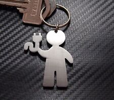 ELECTRICIAN Sparky Sparks Electric Wire Tradesman Trade Keyring Keychain Key Fob