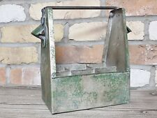 Industrial Metal Wine 6 Bottle Storage Holder Stand Basket Crate Bottle Opener