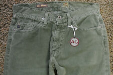 AG Adriano Goldschmied 28X32 THE HERO Jeans Corduroys NWT$169 Designer! Green!