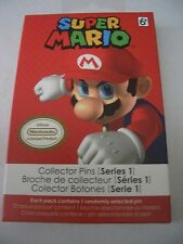 Supermario Series 1 Collector Pin Badge Princess Peach New & Sealed