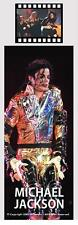 MICHAEL JACKSON MJ King Of Pop Plastic Laminated FILM CELL and PHOTO BOOKMARK