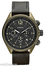 Fossil CH2783 Flight Black Dial Black Leather  Chronograph Mens Quartz Watch