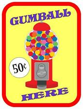 Gumball Vinatge Style Metal Sign Kitchen  Vintage Fairground Sign