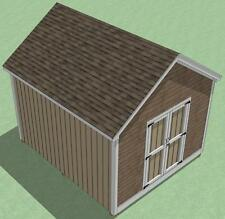 12x14 Shed Plans- How To Build Guide - Step By Step - Garden / Utility / Storage