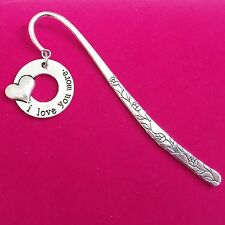 Lovely Antique Silver Plt  'I Love you More' Bookmark,  Ladies Girls Mens Gift