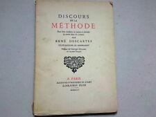 DISCOURS DE LA METHODE RENE DESCARTES  ILUSTRATIONS REMBRANDT    1945 *