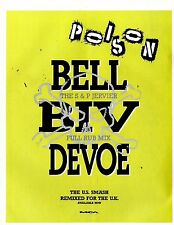 Bell Biv Devoe : Poison Single Advert 11x8