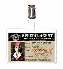 Agent Peggy Carter Red Hat Marvel ID Badge Card Cosplay Prop Costume Halloween