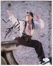JACKIE CHAN HAND SIGNED 8x10 COLOR PHOTO    JSA AUTHENTIC     MARTIAL ARTS POSE
