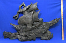 Vintage Finesse Originals Fiberglass Ship Wall Sculpture 3D Nautical Boat Sails