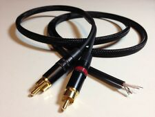Custom Mogami Neutrik Rean Gold RCA 4FT Cable for Turntable or Technics SL-1200s