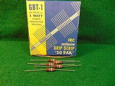 (1) 5 Pack IRC Carbon Comp 2.7K OHM 1 Watt 10% Resistors NOS