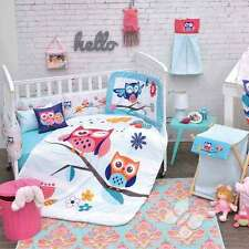 New Baby Boys OWLS BLUE DREAMS Nursery Crib Bedding Set 5 Pieces