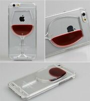 iphone Red Wine Liquid Glass Moving 3D APPLE Case Cover Holder 5 5s 6 and 6 plus