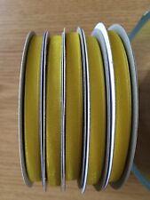 Amarillo Cinta De Organza. 5 Rollos X 50m - 7mm. Nueva Marca Excelente Estado!