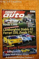 Sport Auto 1/00 Honda 2000  Diablo GT Ferrari 550 Zonda