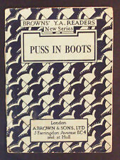 Brown's Y A Readers - Puss In Boots - illus Rene Cloke - c1930s