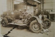 1944 Vtg Wrecked 1920's Fire Truck in Garage Photo PA Antique Dept. Crash FD