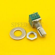 B10K Audio Amplifier Sealed Dual Potentiometer 15mm Shaft 6 pins
