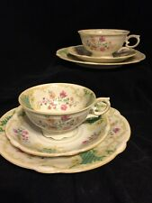 SELTMANN WEIDEN BAVARIA TRIO MADE IN GERMANY CUP, SAUCER, PLATE 2 sets green