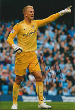 Joe HART Signed Autograph Photo AFTAL COA Man City Goalkeeper Premier League
