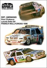 Decal 1:43  Lancia Delta S4 Rallycross 1990 Paul Chateaux
