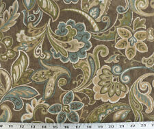 Drapery Upholstery Fabric Indoor/Outdoor Maco Floral Paisley - Truffel