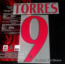 AC Milan Torres 9 Football Shirt Name/Number Set Kit Away Serie a 2014/15