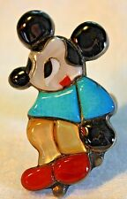 ZUNI VINTAGE DISNEY MICKEY MOUSE 925 STERLING RING SIGN CMP CHARLES MARY PONCHO