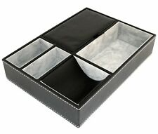 Jewelry Organizer Valet Tray Box Holder Compartment Wallet Phone Coins Men Gift