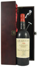1960 Graham Vintage Port 1960  in silk lined gift box with four wine accessories