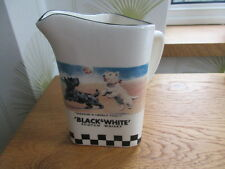 COLLECTABLE  BLACK AND WHITE WHISKY WATER JUG UNUSED