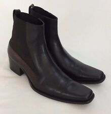 Haider Ackermann Womens US 8 Euro 38 Black Leather Ankle Boot Shoe Slip on 2814