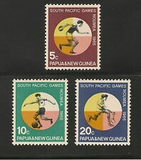 Papau New Guinea #225-227 VF MNH - 1966 5c to 20c 2nd South Pacific Games Sports