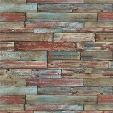 Erismann Wallpaper - Old Weathered Wood Panels / Planks - Multicolour - 7319-06
