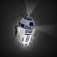 Star wars R2-D2 3D déco lumière led neuf avec fissure stickers lampe