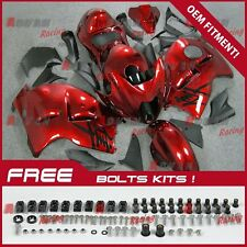 Metallic Red  Fairing + Tank Cover Seat kit Suzuki Hayabusa GSX1300R 97-07 30