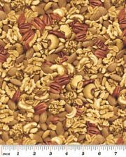 Kanvas Snack Attack Cashews Nuts Natural Cotton Fabric Print by Yard D684.16