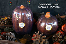 POTTERY BARN FLAMELESS PUMPKIN CANDLES (TWO) -NWT- PUT SOME SPARKLE IN YOUR FALL