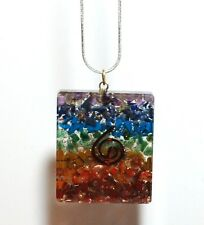 REIKI ENERGY CHARGED CHAKRA ORGONE CRYSTAL PENDANT INC CHAIN GIFT PRESENT 100931