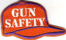 """GUN SAFETY"" -  IRON ON EMBROIDERED APPLIQUE PATCH - FIREARMS - GUNS - NRA"