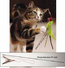 """Da Bird 36"""" Single Pole Guinea feather wand cat toy toys Guinea feather made USA"""