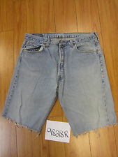 "Levi used 501 high waisted cut off shorts USATag 38"" Meas 35"" Inseam 12"" 9828R"