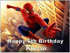"Spiderman Personalised Cake Topper Edible Wafer Paper 7.5"" By 10"" A4"