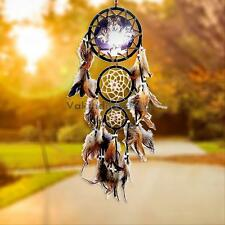 Creative Dream Catcher Feathers Wall Hanging Decoration Home Decor Ornament-Wolf