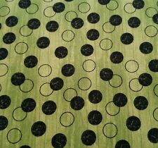 Every Witch Way BTY Jennifer Pugh Wilmington Black Dots on Green