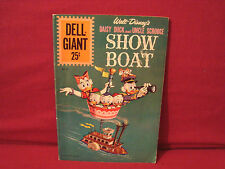GIANT DELL COMIC BOOK WALT DISNEYS DAISY DUCK & UNCLE SCROOGE SHOW BOAT 1961#55