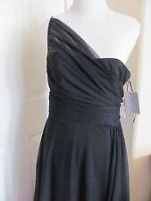 ML Monique Lhuillier Off Shoulder Tulle Black Long Formal Dress Sz 8 NWT #220112